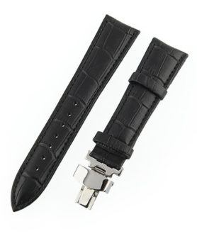 BLACK LEATHER WATCH STRAP DEPLOYMENT