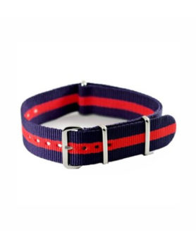 NATO NYLON BLUE RED BLUE