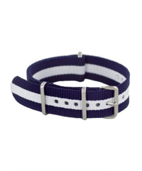 NATO NYLON BLUE WHITE BLUE