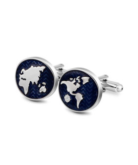 DUVERNET WORLD MAP CUFFLINK