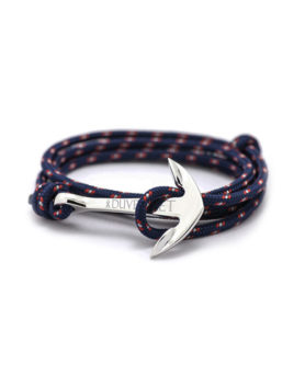 ANCHOR BRACELET RED AND BLUE