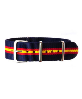 NATO NYLON BLUE RED YELLOW