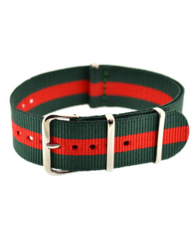 NATO NYLON GREEN RED GREEN