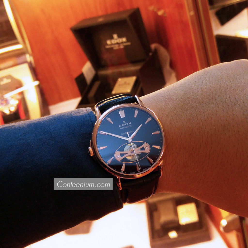 Edox Les Bémonts Open Vision Blue 85021 37R BUIR 5b17df495be