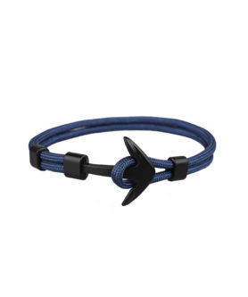 DUVERNET ANCHOR BRACELET NAVY BLUE