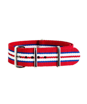 NYLON NATO RED BLUE WHITE