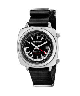 BRISTON CLUBMASTER TRAVELER WORLDTIME STEEL