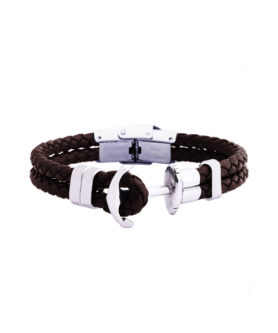 ANCHOR BRACELET BROWN