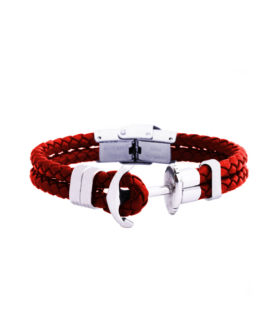 ANCHOR BRACELET RED STEEL