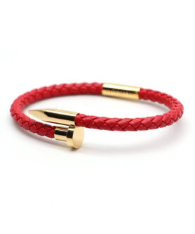 BRACELET SCREW LOVE RED GOLD